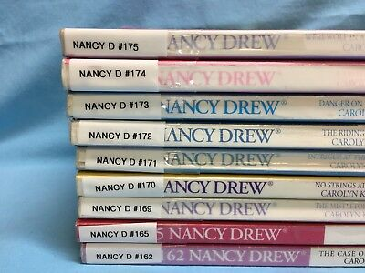 Nancy Drew Paperbacks Lot Of 9 Ex Library #'s 162,165,169,170-175