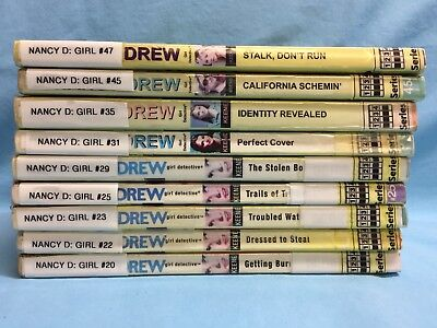 Nancy Drew Paperbacks Lot Of 9 Ex Library #'s 20,22,23,25,29,31,35,45,47