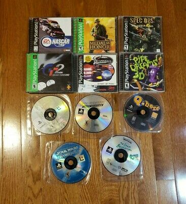 Ps1 Games Bundle--Star Wars Medal of Honor Need for Speed Gran Turismo And More!