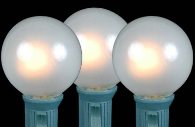 Novelty Lights 25 Pack G40 Outdoor Globe Replacement Bulbs, Frosted White, Base,
