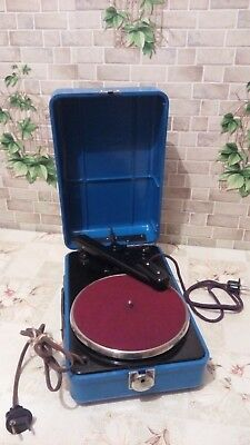 "Vintage USSR Portable Record Player ""MMZ"" 1930"" - 1940s"" GRAMOPHONE PHONOGRAPH"