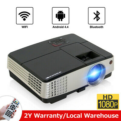 3600LMS Smart Bluetooth Video Projector Android WiFi Home Cinema Movie Game HDMI