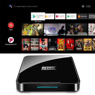 MECOOL KM3 Smart Android 9.0 TV Box Media Player Amlogic S905X2 4GB+64GB Q5V1