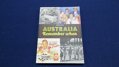 2015 Australia Remember When book by Bob Byrne history pop culture TV movies