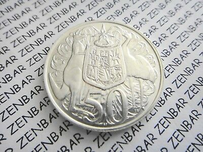 AUSTRALIAN  1966  50c  Cent Round Decimal Silver Coin   80% Silver (1) One Coin