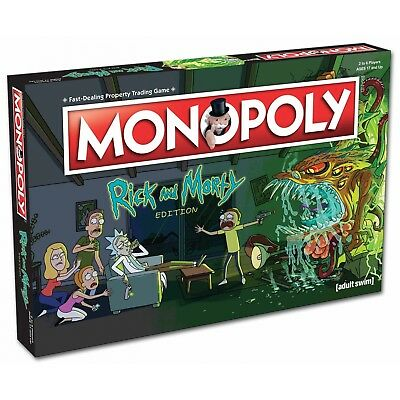 Monopoly Rick and Morty Edition Board Game BRAND NEW