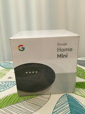 New Google Home Mini - SEALED and Unopened Charcoal Color