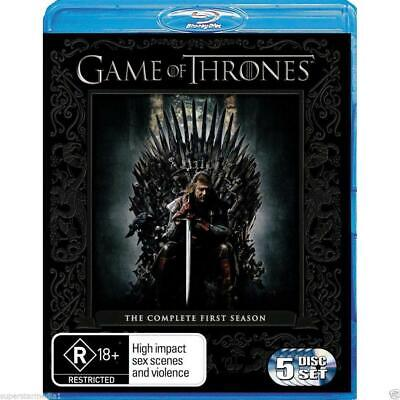 Game Of Thrones Complete First Season 1 (Blu-ray 2012, 5Disc) LIKE NEW FREE POST