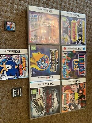 Job Lot Of 8 Nintendo Ds 3ds Games Sonic Crime Puzzles Kids Etc Free Postage Too