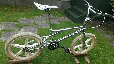 old school vintage chrome bmx. Raleigh mag wheels.