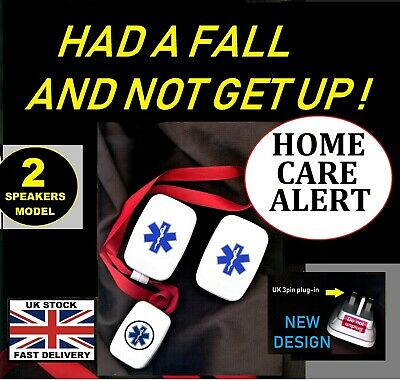 2 ALARMS ! ~ up/downstairs MAINS (cordless) NO BATTERIES REQUIRED* 250m range !