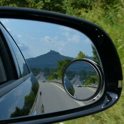 1Pc Black Car Blind Spot Mirror 360° Angle View Adjustable Rearview Mirro L Tn