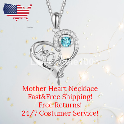 Mother Necklace 925 Heart Necklace Sterling Silver for Woman Mom Gifts FREE TAX