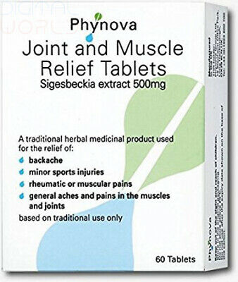 Phynova Joint and Muscle Relief Tablets, Pack of 60 Tablets (Pack 1)