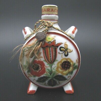 Antique 1920's Zsolnay Pecs Hungary Porcelain Barack Brandy Miniature Bottle