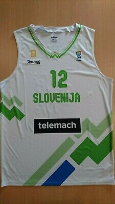 Camiseta baloncesto basketball jersey Zoran Dragic Slovenia 2XL Fiba