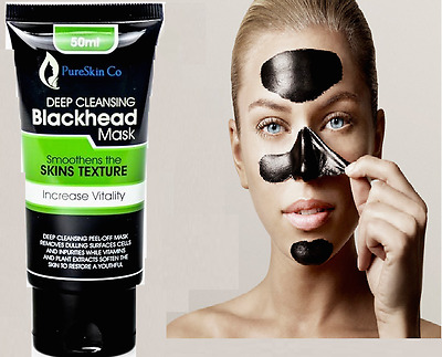 Pure Skin Charcoal Activated Blackhead Mask Remover Peel-Off Facial Face Mask UK