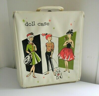 Barbie Clone Doll Case - Vintage 1960s Fashion Doll Case White - Great Graphics