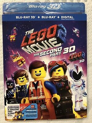 The LEGO Movie 2 The Second Part 3D & Blu-ray w Slip Cover Canada Bilingual LOOK