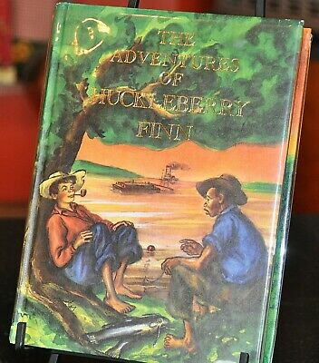The Adventures of Huckleberry Finn Illustrated Junior Library 1976 Clear DJ