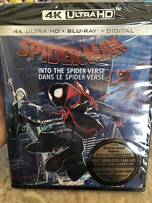 Spider-Man Into The Spiderverse 4K Ultra HD & Blu Ray Canada NO DC LOOK