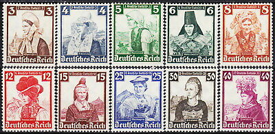 Germany-Reich Regional Costumes Emergency Relief 1935 MNH-201 Euro