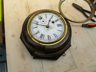 Antique New Haven, Lever Time Piece, Octagon One Day Wall Clock. Marine?