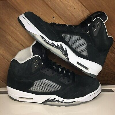 the latest eab07 16061 2013 NIKE AIR Jordan 5 Retro OREO 136027-035 Black Cool Gray Size 12