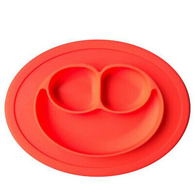 Mat Silicon Lovely Silicone Suction Bowl Plate With Divider For Train Children