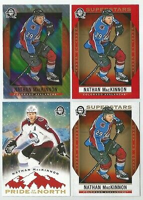 2018-19 OPC Coast to Coast Nathan Mackinnon (4) Card Lot - See Description
