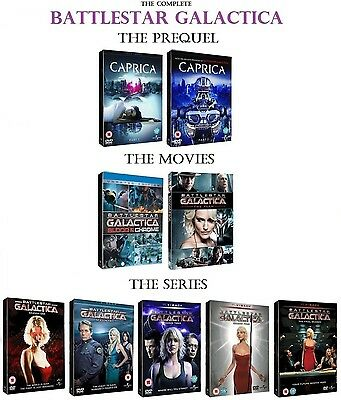 The REAL COMPLETE Battlestar Galactica 1-5 Caprica Blood & Chrome Miniseries