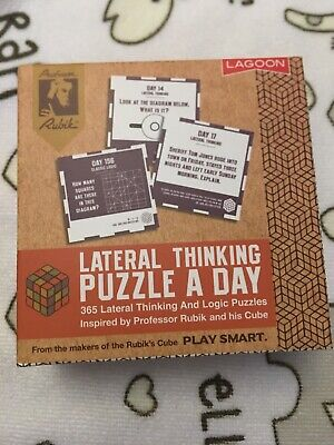LAGOON LATERAL THINKING Puzzle A Day 365 Logic Desk Block Gift