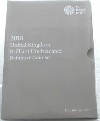 2018 UK BUNCIRCULATED DEFINITIVE COIN SET 8 Coin Set - PACK SEALED ROYAL MINT