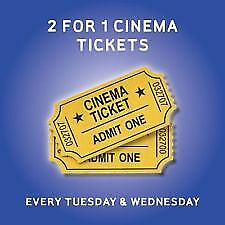 2 For 1 Cinema Ticket Codes For Cineworld, Odeon, Vue, Showcase, Empire