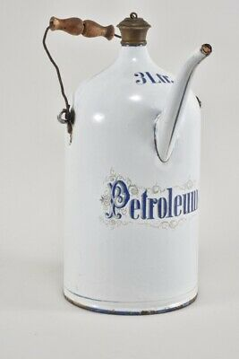 e76r28- Alte Emaille Kanne Petroleum 3 Liter