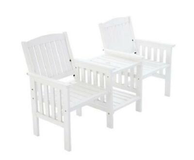 2 Seater Wooden Outdoor Garden Patio Jack & Jill Love Seat Chair Coffee Table