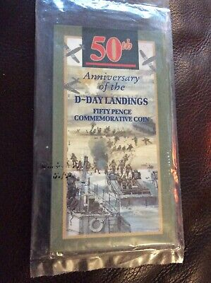 1994 50th Anniversary Of The D-Day Landings 50p Commemorative Coin SEALED MINT
