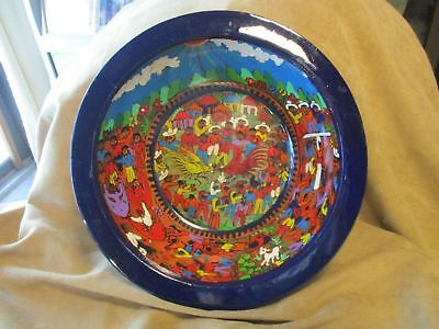 Mexican Folk Art Wooden Wedding Bowl