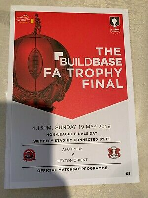 The Buildbase FA Vase and FA Trophy Finals Programme 2019 MINT