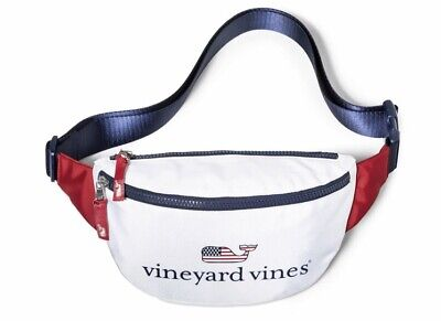 NWT IN HAND Vineyard Vines for Target Flag Whale Fanny Pack USA July 4