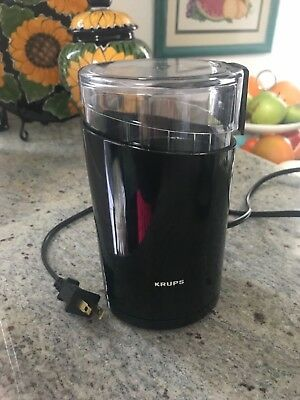 KRUPS F203 Electric Spice and Coffee Grinder with Stainless Steel Blades,...