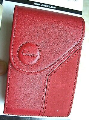 Lowepro Napoli 20 Red Leather Digital Camera Case, Pouch with Belt Loop - NEW