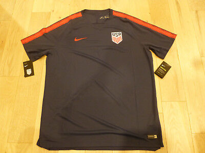 79e79a07ee0 NWT Nike 2018 USA MNT Soccer Navy Blue Squad Training Jersey (Men Size 2XL)
