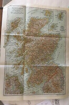 Vintage Map Of Scotland -from 1911