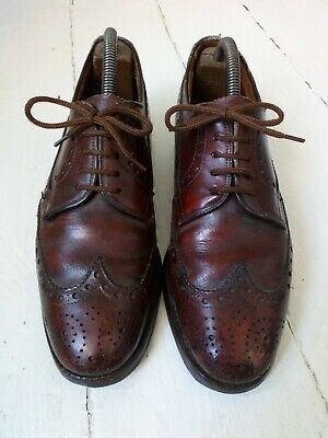 Burberry/Russell & Bromley Womens Brown Leather Brogues Size 6.5.