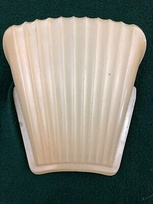 3 Antique Art Deco Custard Glass Slip Shades for Chandelier Light Fixture