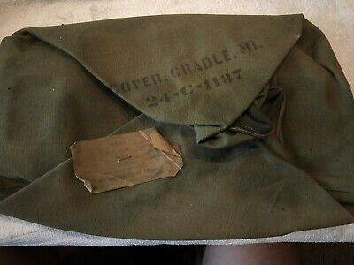 WW1 / WWII 1917/1919  US Army M1 Canvas Cradle Cover