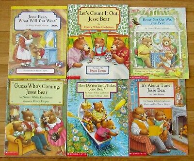 Lot 6 JESSE BEAR Picture Books Nancy White Carlstrom What Will You Wear 2 HB L1