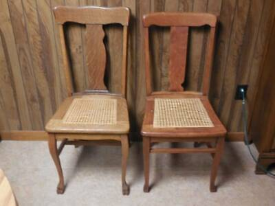Four antique wooden chairs  All different styles