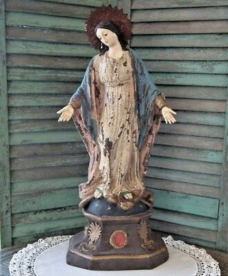 "Exquisite CODY FOSTER Antique-Style 28"" ~MADONNA STATUE~ Aged & Distressed ~ NEW"